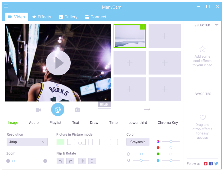 Manycam 5.4 : New UI