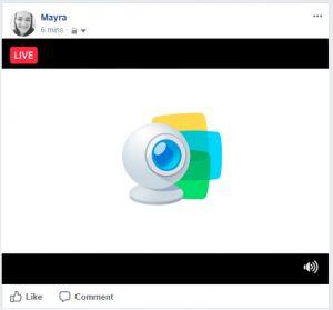 broadcasting facebook live