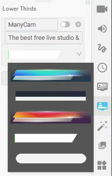 lower thirds live stream