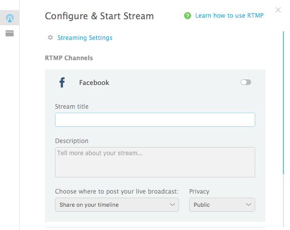 customize Facebook Live stream