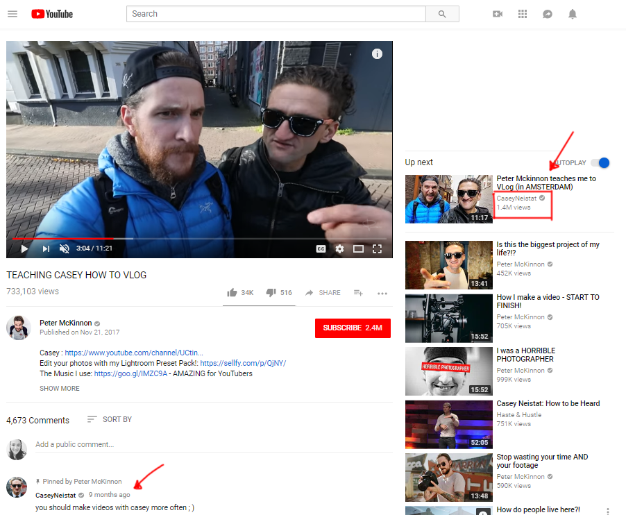 Video collaborations Peter Mckinnon Casey Neistat
