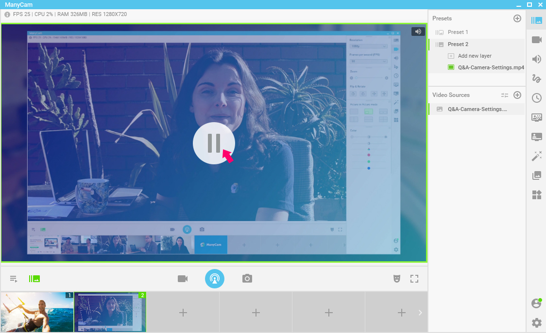 Add videos when live streaming