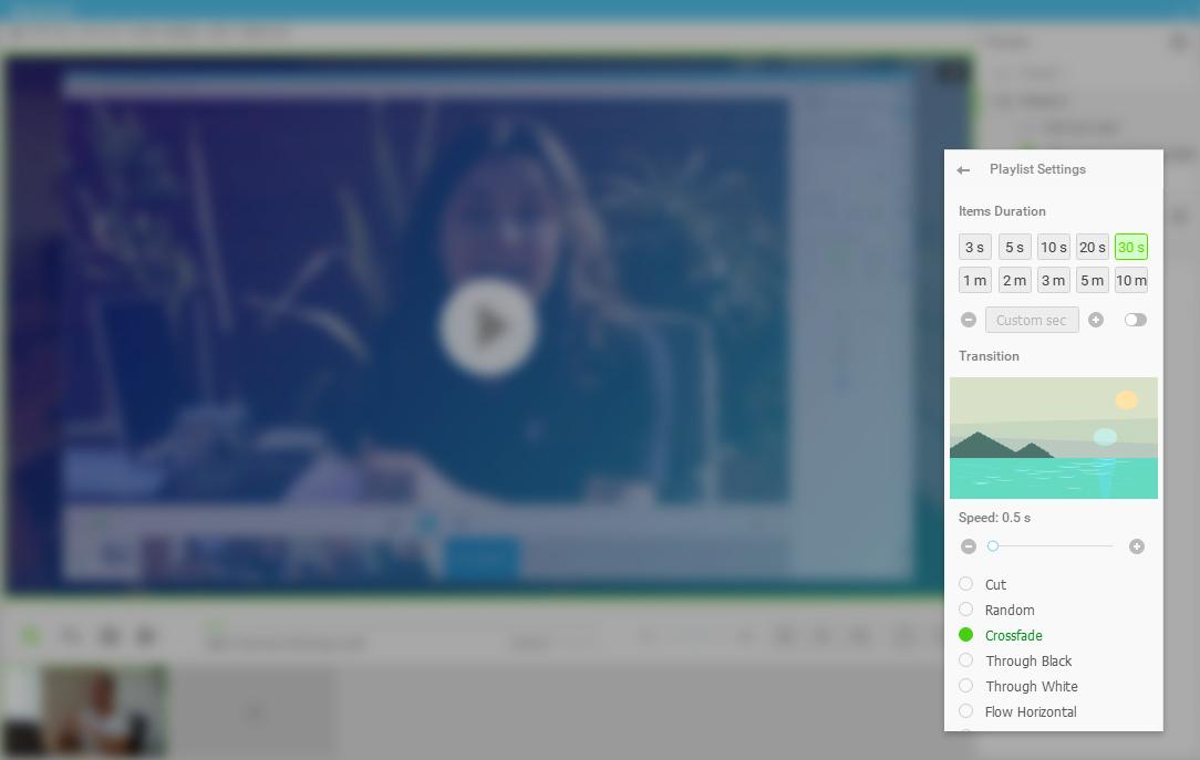 Add videos as playlist on Live Stream