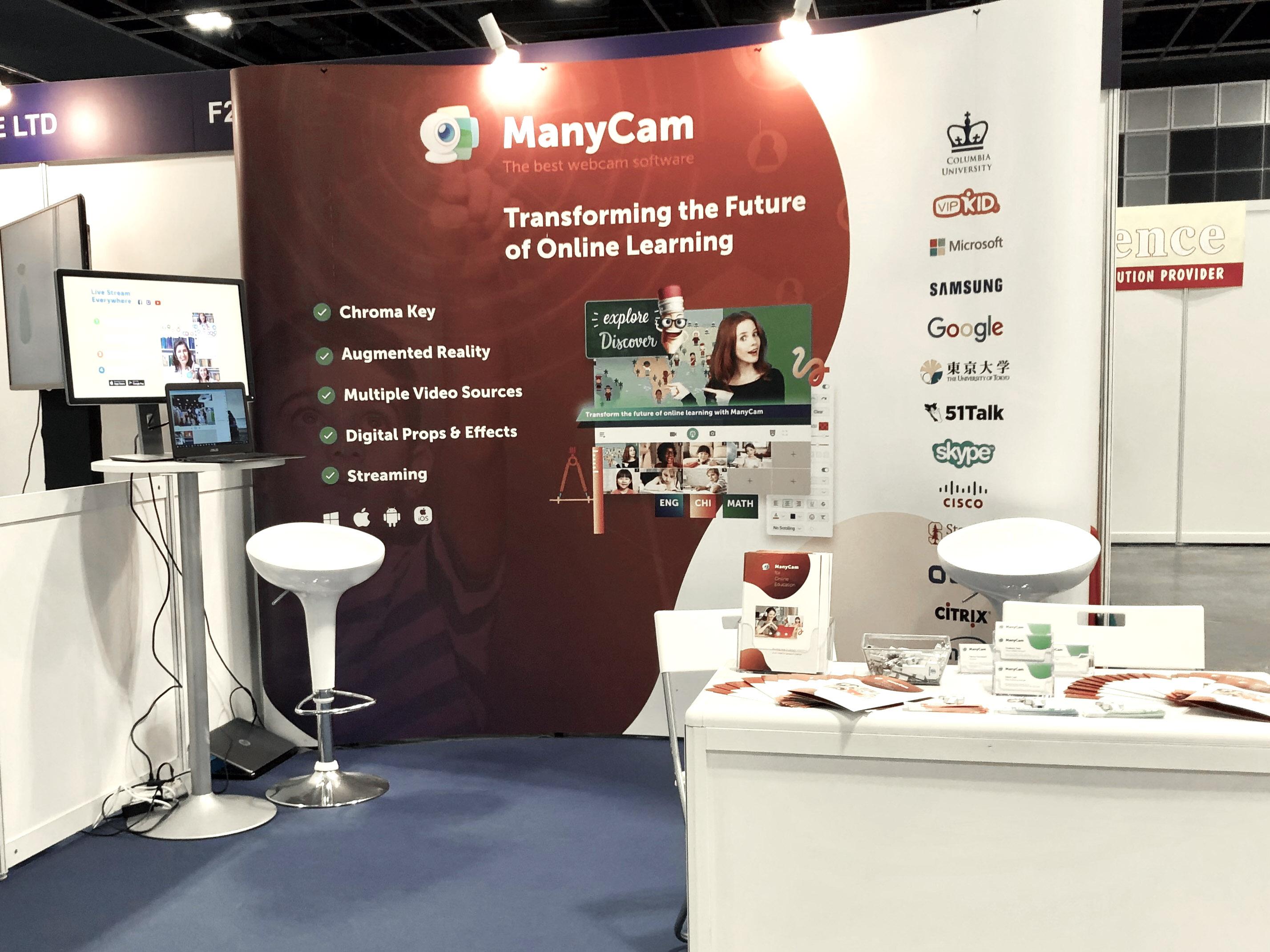 ManyCam's Booth - EduTECH Asia 2018