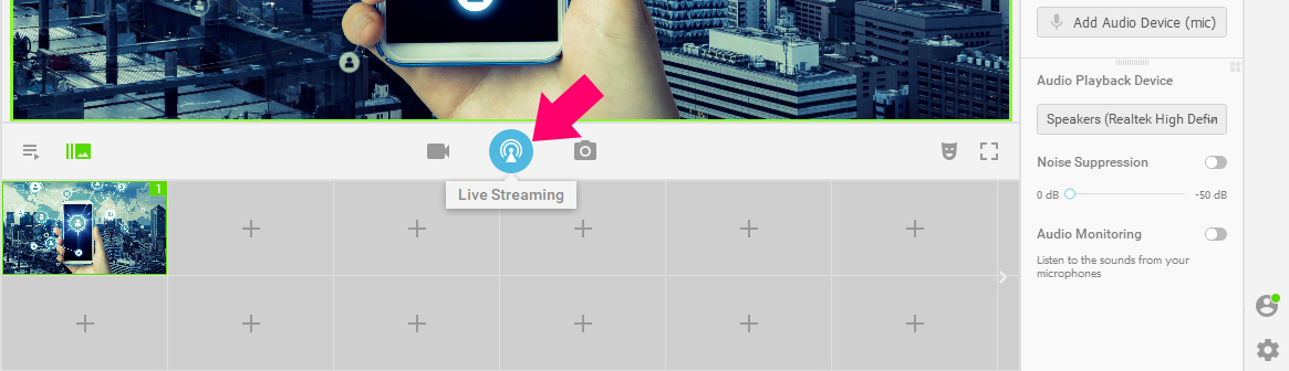 live streaming button - beginners guide to live streaming