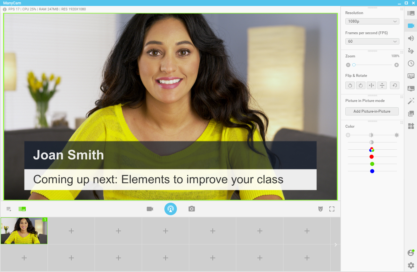 Improve your online classes - Lower Thirds