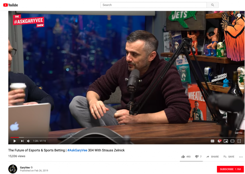 Ask Gary Vee - Monthly live show on social media