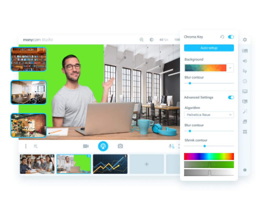 Video conference - Replace background