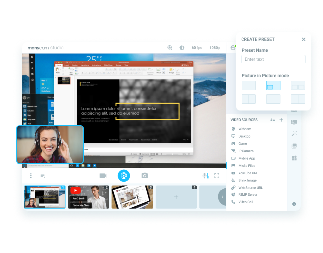 Picture-in-picture video conferences