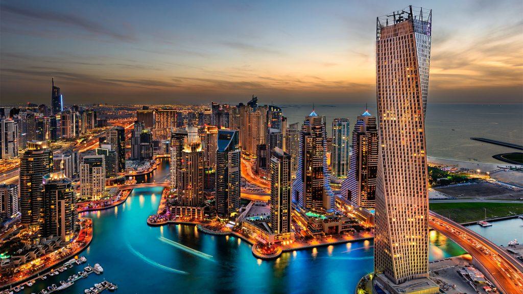 Virtual background cityscape