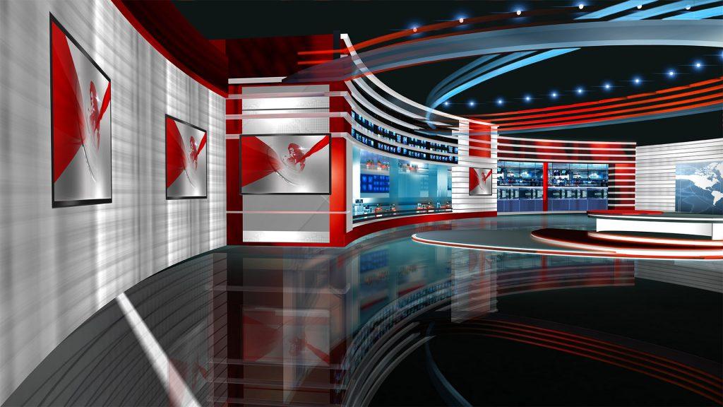 ManyCam virtual background newsroom