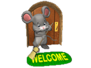 ManyCam Effect: mouse sweeping welcome mat