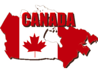 ManyCam Effect: canadian flag map great on