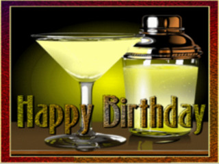 Manycam Effect Martini Happy Birthday