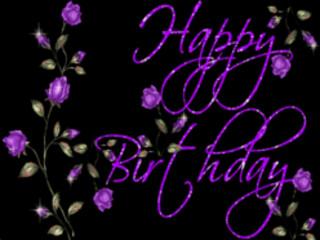 Manycam Effect Happy Birthday Purple Roses