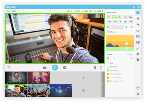 Webcam software for Windows and Mac features  ManyCam