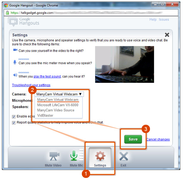 Webcam Software for Google Plus |ManyCam