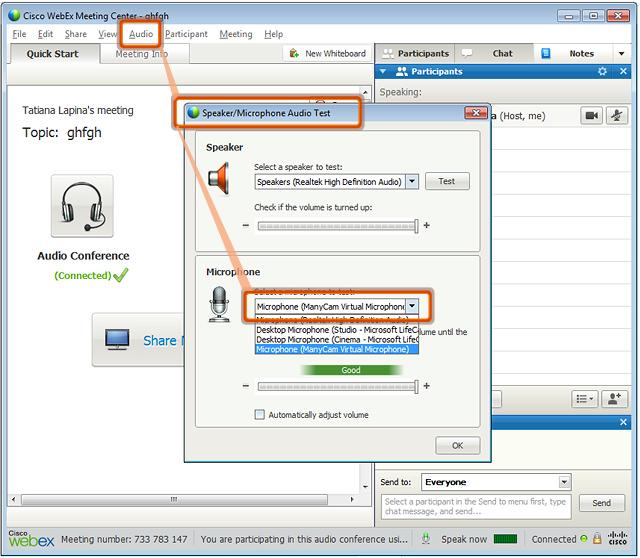 Webcam Software for Webex |ManyCam