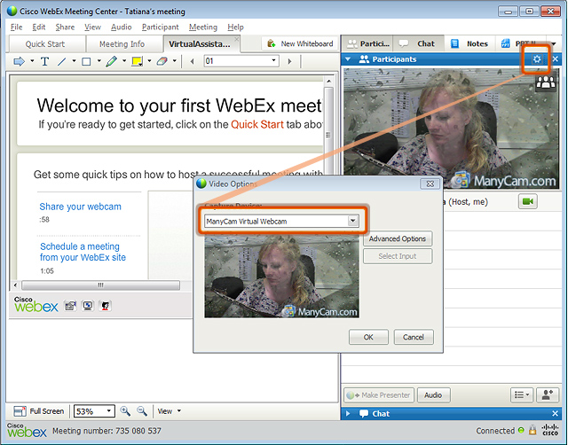 how to choose mic webex