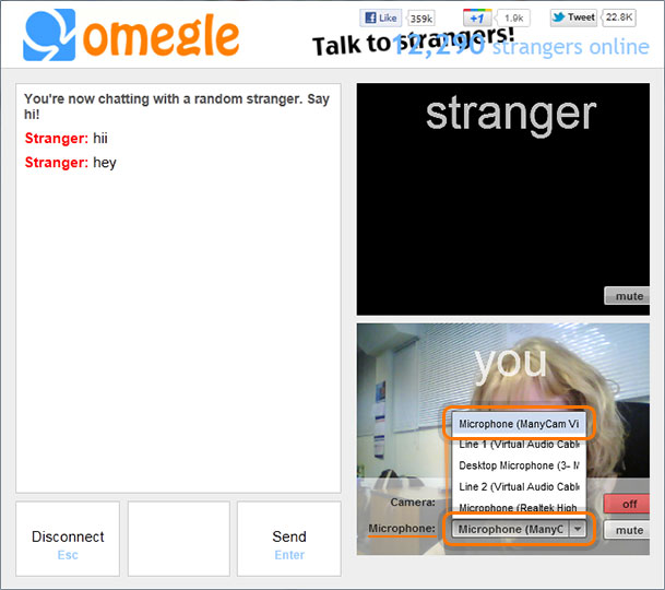 Can you video chat on omegle