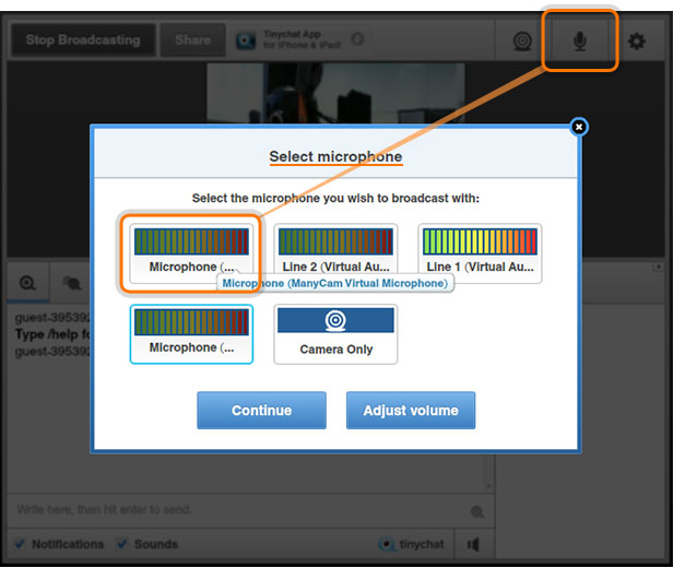 Webcam Software for tinychat |ManyCam
