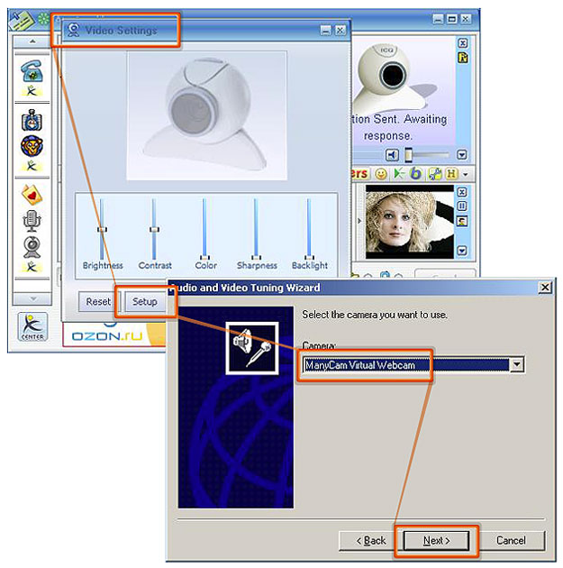 Webcam Software for ICQ |ManyCam