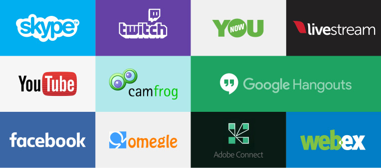 ManyCam compatible apps such as Skype, Omegle, Younow, Youtube, Facebook, Livestream ….